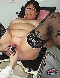 Mature Tatana old pussy speculum exam and pussy gaping
