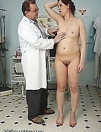 Mature Blazena gyno speculum check up at kinky clinic